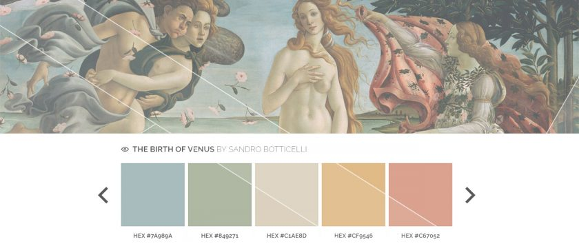Color Palettes of the Great Artists