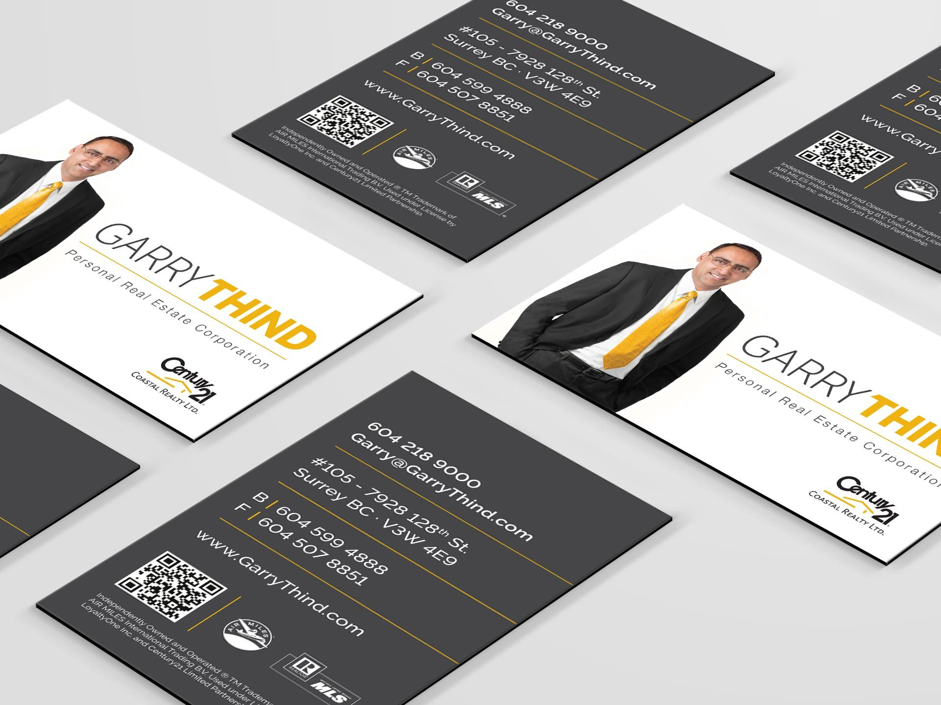 Y5 Creative Case Studies 2017 Business Cards Garry Thind Realtor