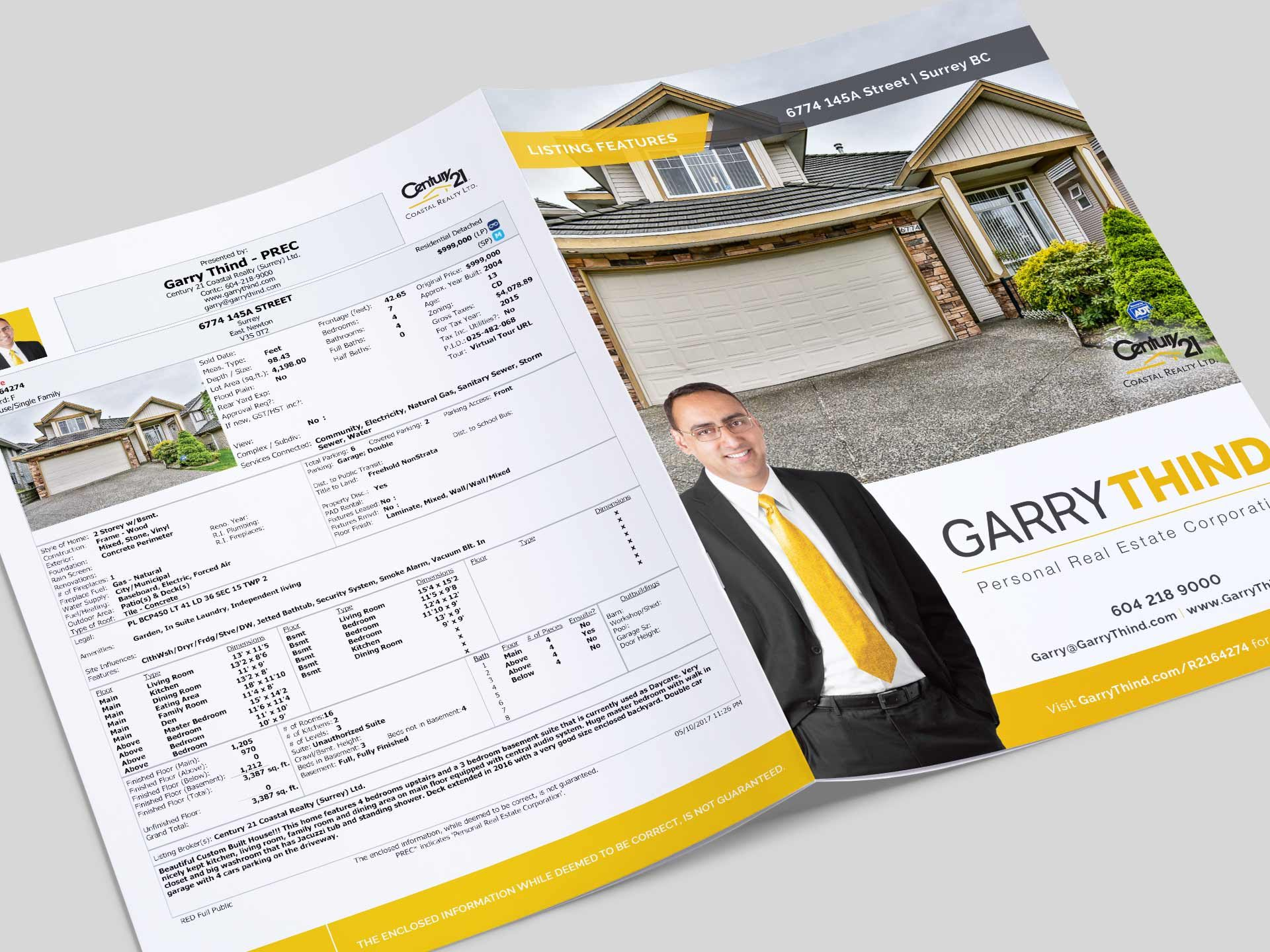 Y5 Creative Case Studies 2017 Listing Feature Booklet Garry Thind Realtor