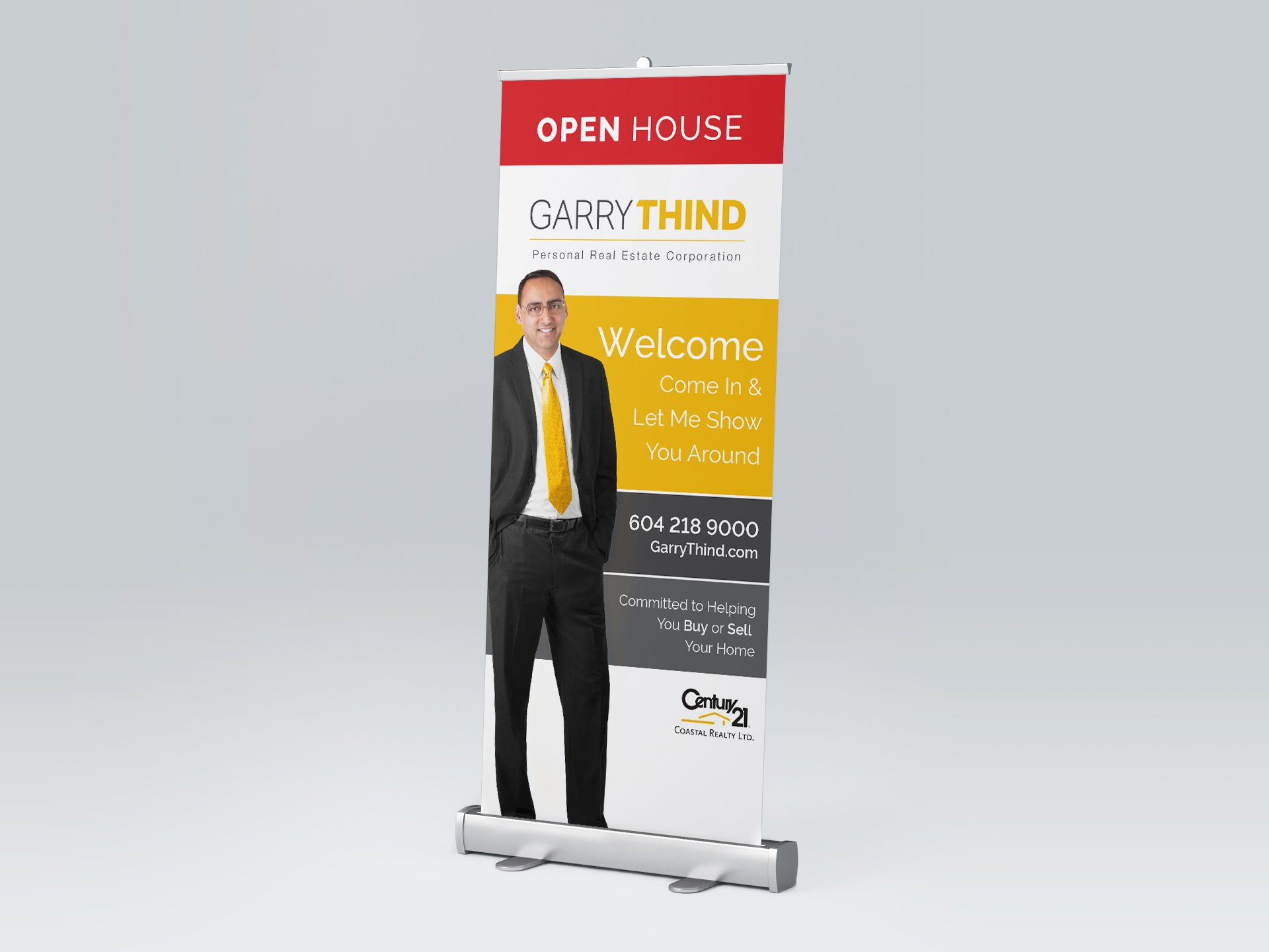 Y5 Creative Case Studies 2017 Roll Up Banner Garry Thind Realtor