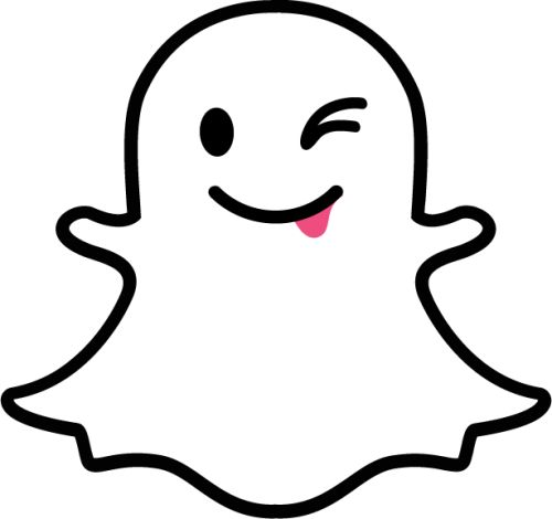 Snapchat ghost winking.