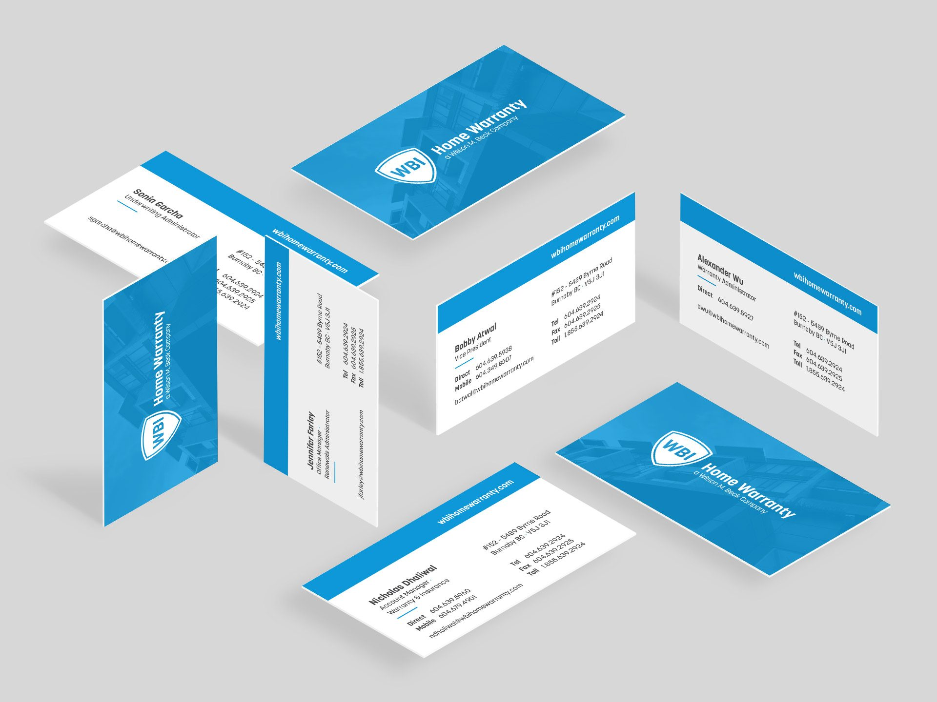 Y5 Creative Case Studies 2017 Business Cards WBI Home Warranty