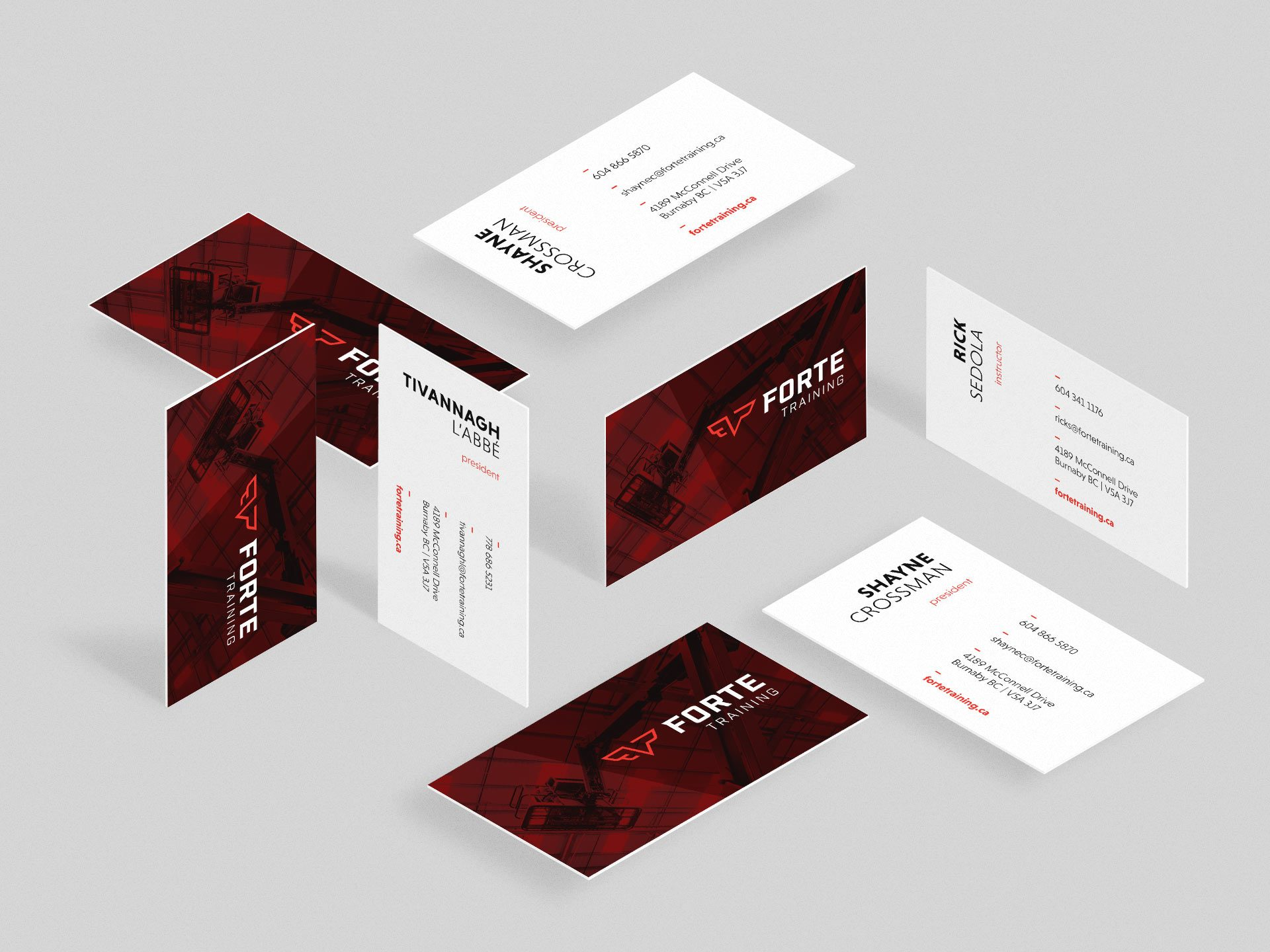 Y5 Creative Case Studies 2017 Business Cards Forte Training
