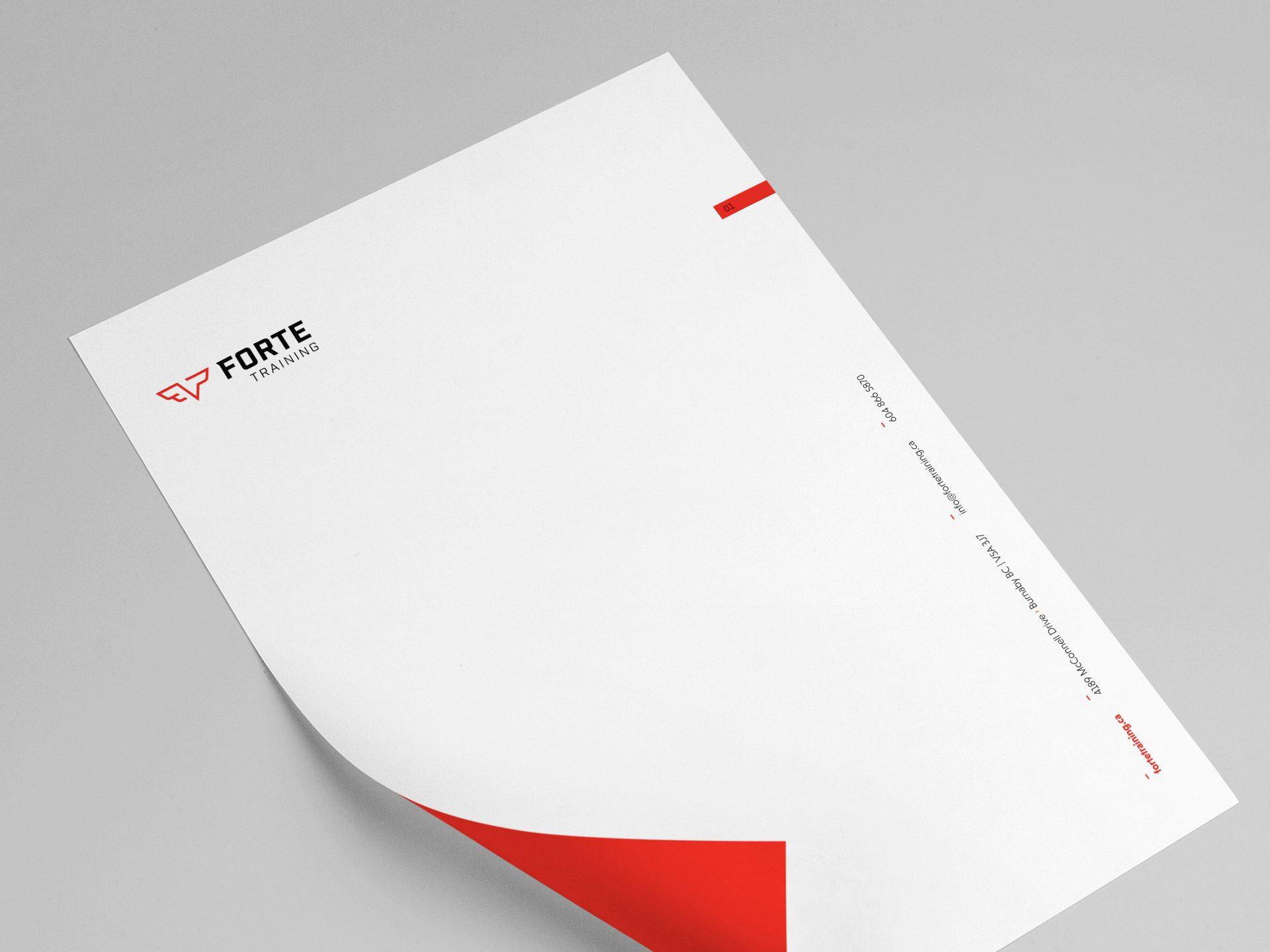 Y5 Creative Case Studies 2017 Letterhead Forte Training