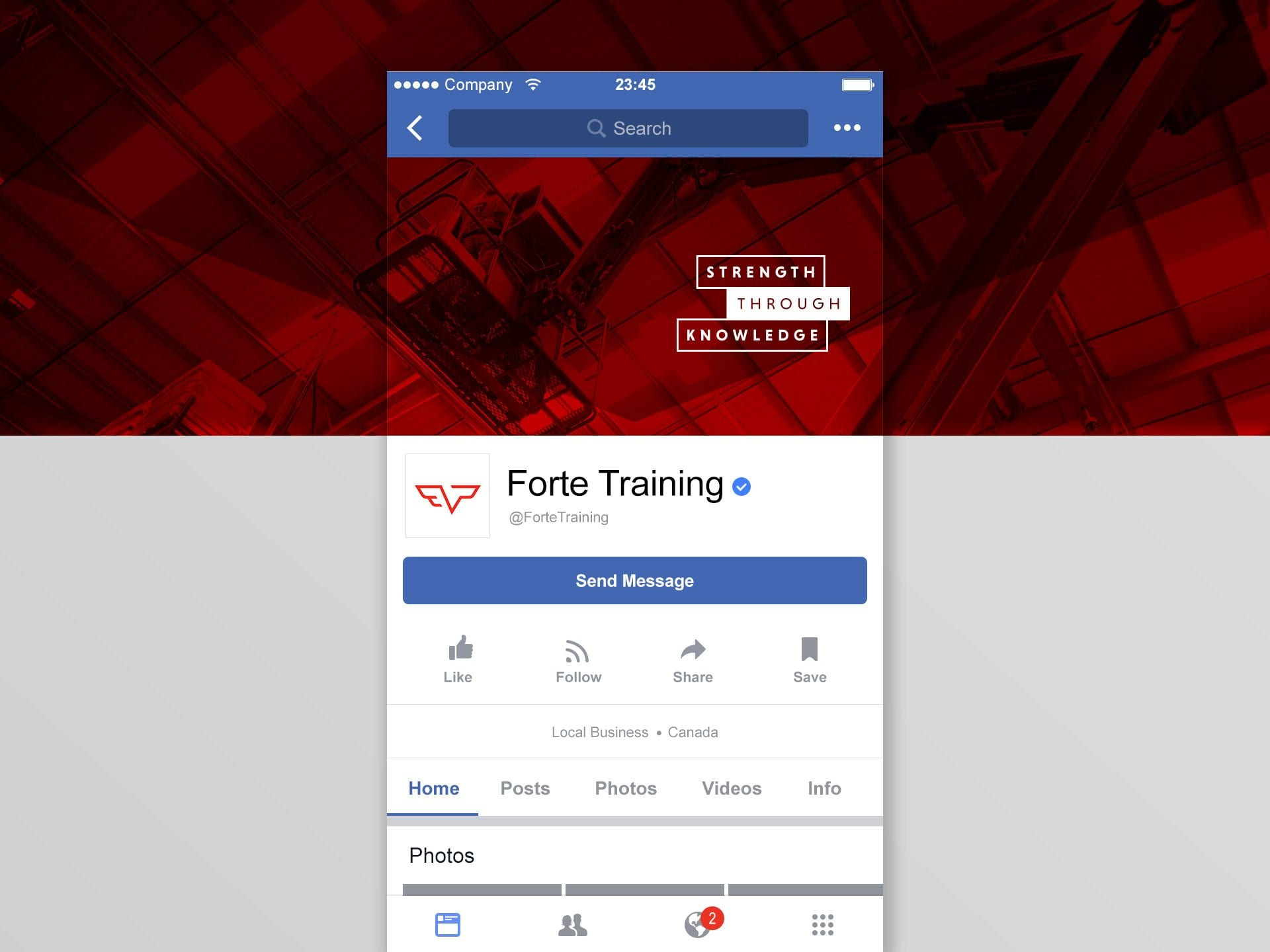 Y5 Creative Case Studies Forte Training 2019 Social Media Branding