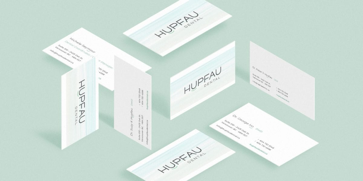 Y5 Creative Case Studies Hupfau Dental BusinessCards